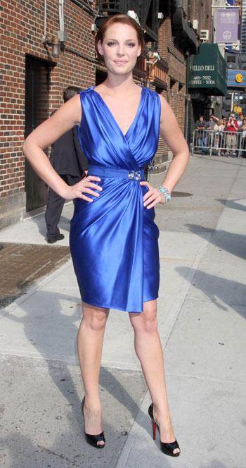 Katherine Heigl brunette1 Hot or Not? Katherine Heigl Brunette in a Blue Dress