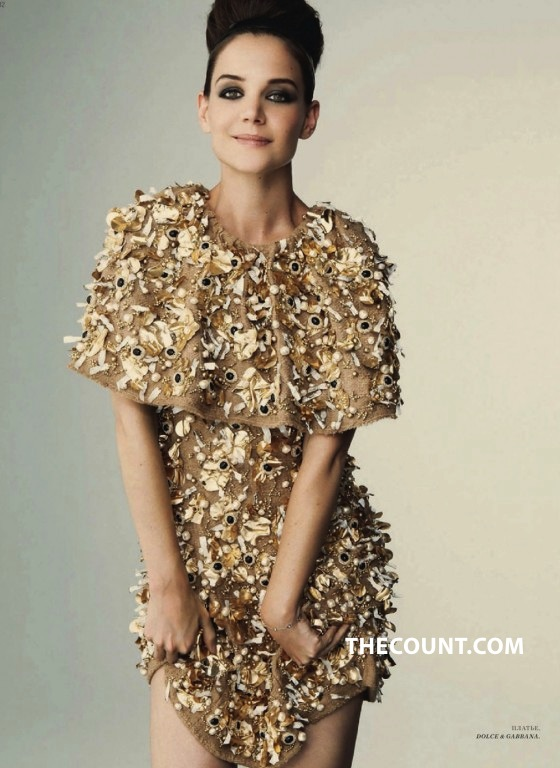 Katie Holmes Goes All Russian Bazaar