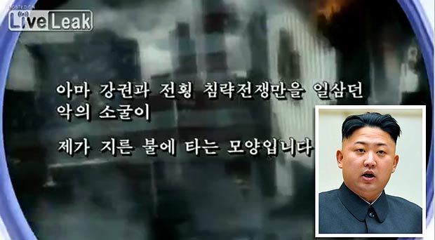 CHILLING LEAKED North Korea Attack America Video With Michael Jackson Soundtrack