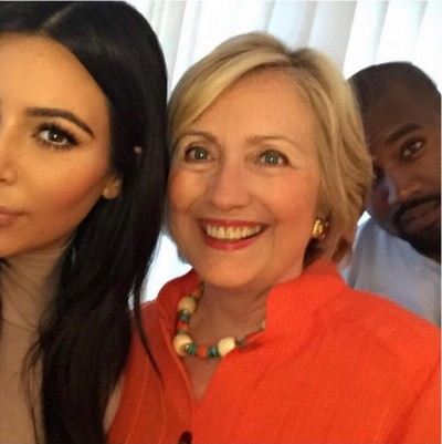 Kim Kardashian Endorses Hillary Clinton Selfie