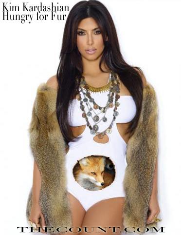 Kim Kardashian Hungry for Fur