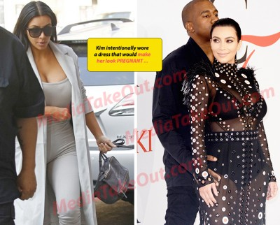 Kim kardashian faking being Pregnant 400x322 SHOCK CLAIM: Kim K FAKING PREGNANCY?