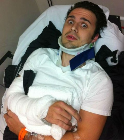 Kris Allen Injured In New Years Eve Car Accident 480x543 Idol Winner Kris Allen And Pregnant Wife Injured In Head On Car Crash