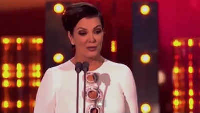 Kris Jenner presenting 2015 British National Television Awards held at O2 Arena