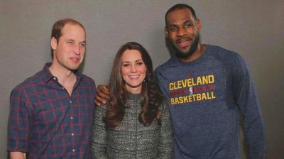 LeBron James TOUCHES Royal Kate Middleton