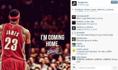 Lebron James I'm COMING HOME