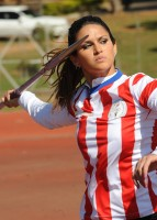 Leryn Franco, member of the Paraguayan olympic javelin team