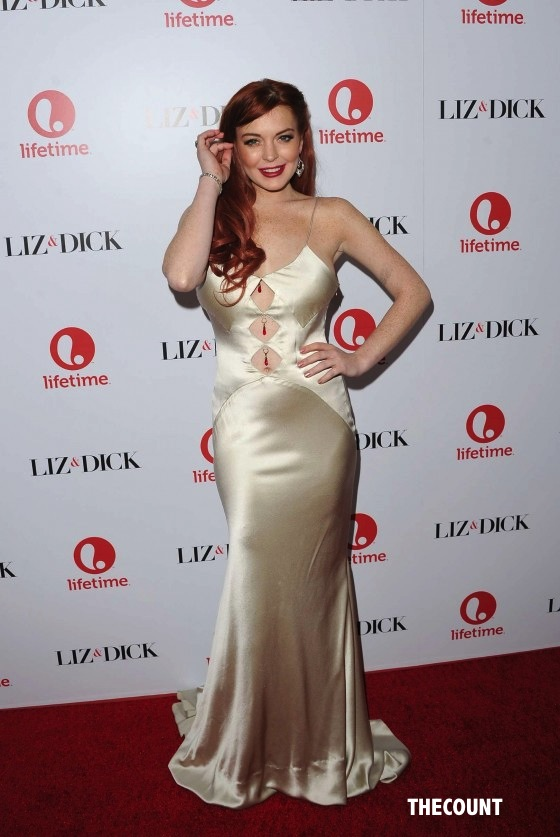 Lindsay Lohan Liz and Dick premiere 16 560x837 Great Dress Or Total Mess? Lindsay Lohan Liz & Dick Premiere