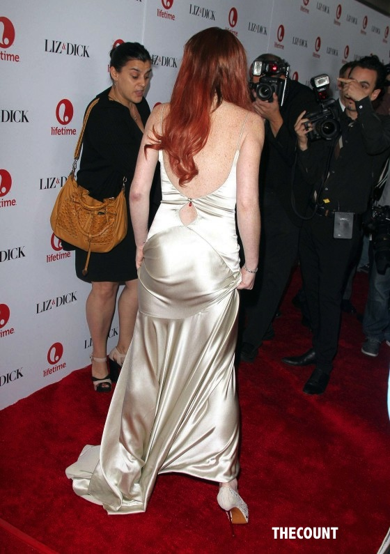 Lindsay Lohan Liz and Dick premiere 19 560x795 Great Dress Or Total Mess? Lindsay Lohan Liz & Dick Premiere