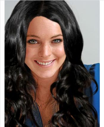 Lindsay Lohan Swaps Hairdo with Lady Gaga