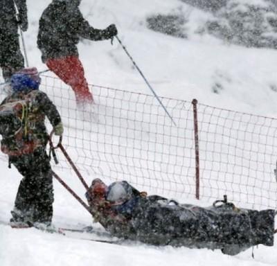 Lindsey Vonn World Cup crash skiing