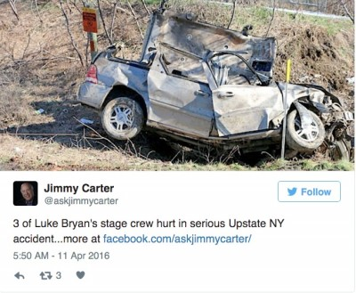 Luke Bryan crew members accident