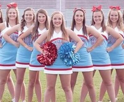 Lumberton cheerleaders 911 tribute 4