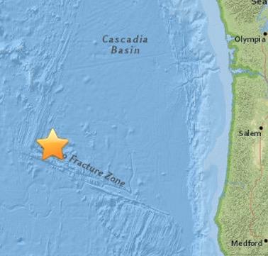 M5.8 Earthquake STRIKES Off the Coast Of Oregon