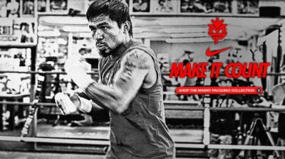 Manny Pacquiao nike fired make it count