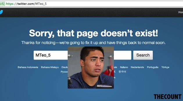 Manti Teo Deletes Twitter Account NFL Draft Status Teo Deletes Twitter Account