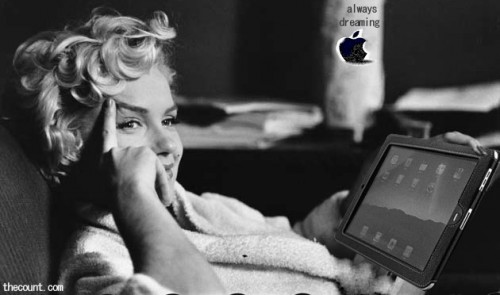 Marilyn Monroe New Apple iPad Ad 500x295 Marilyn Monroe Would Have Been 89 Today