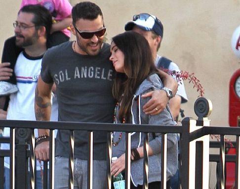 Meganpregowithbriandisney2 Like A Disney Princess! Pregnant Megan Fox with Her Prince