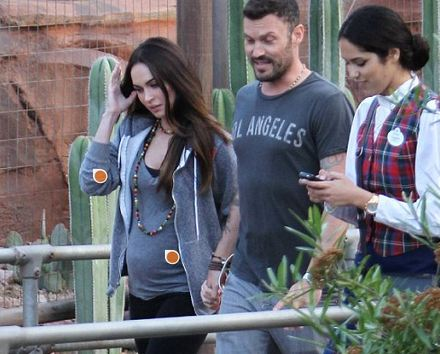 Meganpregowithbriandisney3 Like A Disney Princess! Pregnant Megan Fox with Her Prince