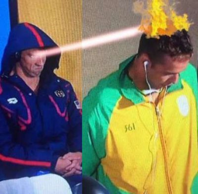 Michael Phelps death stare memes