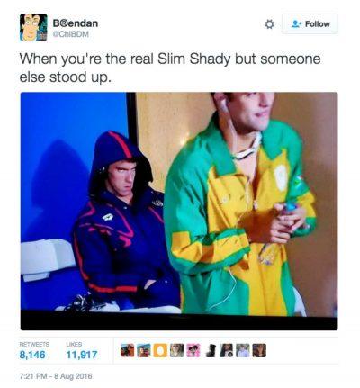 Michael Phelps death stare memes 2