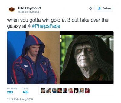 Michael Phelps death stare memes 3