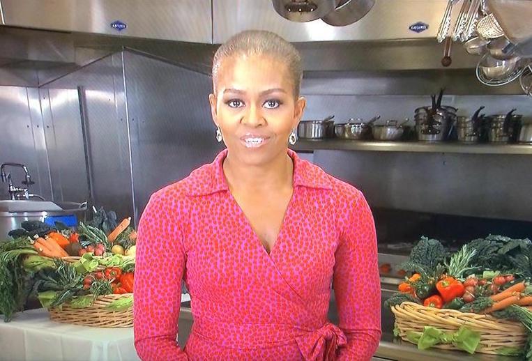 Michelle Obama Bald