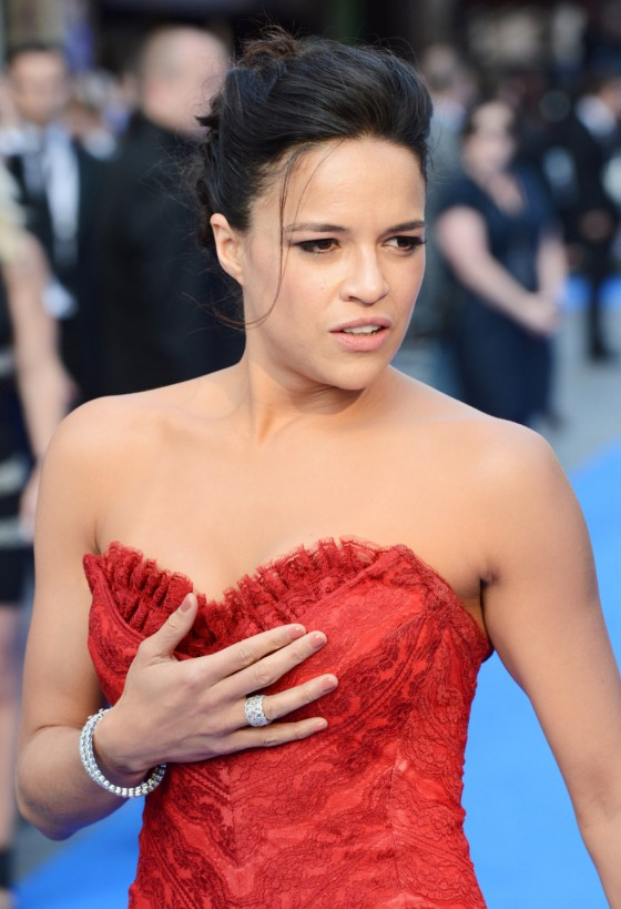 Michelle Rodriguez Fast and Furious 6 premiere in London 07 560x819 Michelle Rodriguez Embarrassing Fast and Furious Fashion Disaster