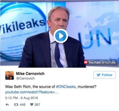 Mike Cernovich assange seth rich comments