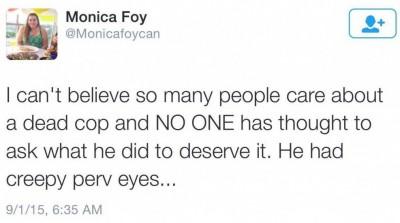 Monica Foy blacklivesmatter creepy perv eyes 2