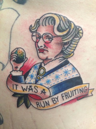 Mrs. Doubtfire tattoo