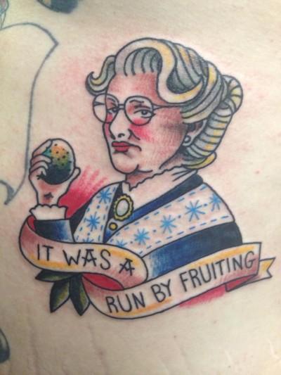 Mrs. Doubtfire tattoo