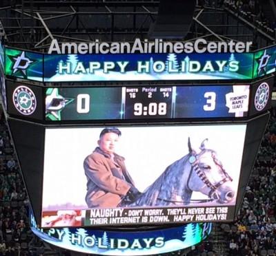 NHL Dallas Stars Disses Kim Jong Un On Jumbotron