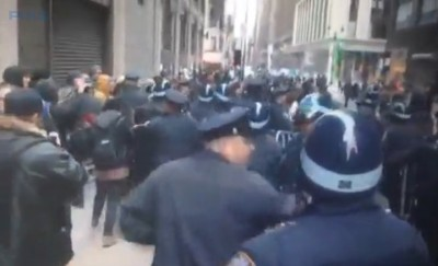 NYC Ferguson Protesters Arrested Disrupting MACY's Thanksgiving Day Parade