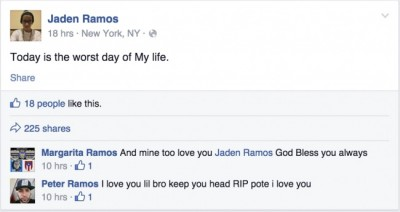 NYPD Officer Rafael Ramos Jaden Ramos