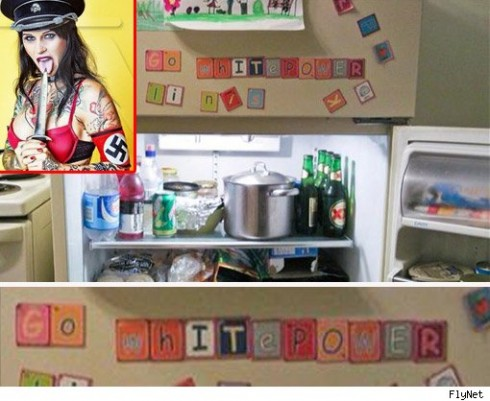 Nazi fridge mm 490x401 Jesse James Mistress Even Has A Nazi Refrigerator!