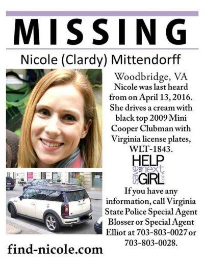 Nicole K. Mittendorff missing poster find
