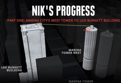 Nik Wallenda chicago skyscraper 2