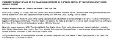 Obama Running Wild with Bear grylls