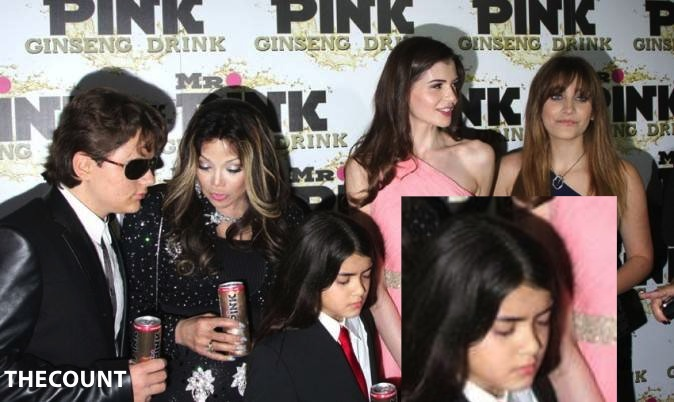 Paris Jackson a la soiree Mr Pink Ginseng Drink a Beverly Hills le 11 octobre 2012 portrait w674 BLANKET MAD! Forced By La Toya To Endorse Energy Drink