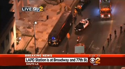 Party Bus Carrying Shooting Victims Rolls Up To LAPD Station In South LA