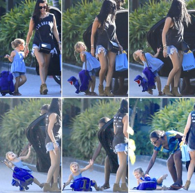 Penelope Kardashian hit by car door
