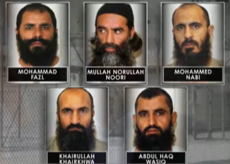 Pictured Mullah Mohammad Fazl, Mullah Norullah Noori, Abdul Haq Wasiq, Khairullah Khairkhwa Mohammed Nabi Omari