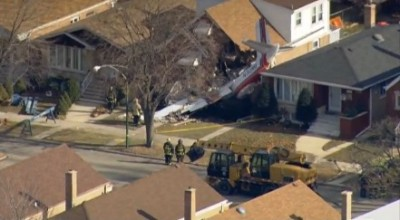 Plane CRASHES Into Houses Chicago 3