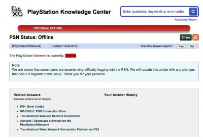 Playstation is ALSO experiencing outages