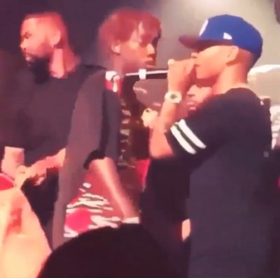 Plies body slammed 400x398 Becky Rapper Plies BODY SLAMMED Off Stage By Disgruntled Fan [VIDEO]
