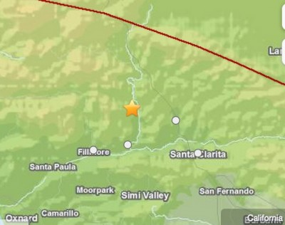 Preliminary magnitude 3.7 earthquake hits near Valencia, Calif