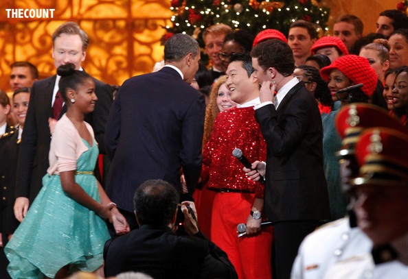 President+Obama+Attends+Christmas+Washington+6ldtI69oRUgl PRESIDENT PSY: Obama Meets Gangnam Style