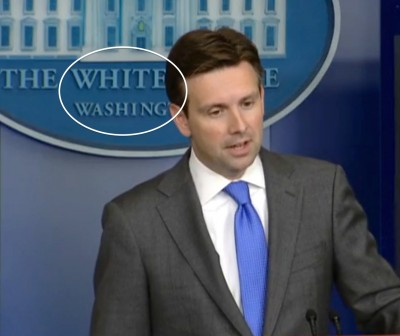 Press Sec Josh Earnest white washing