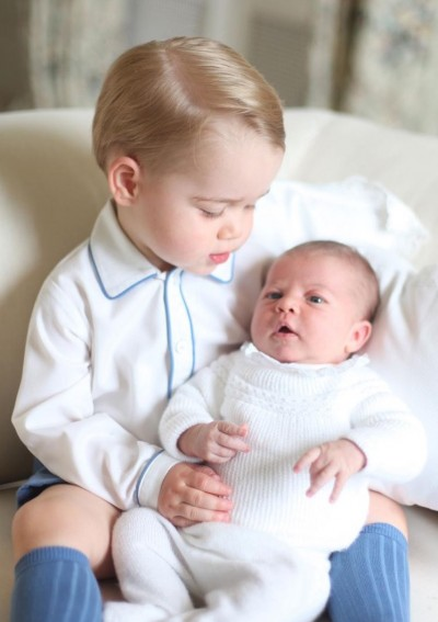 Princess Charlotte and her brother Prince George